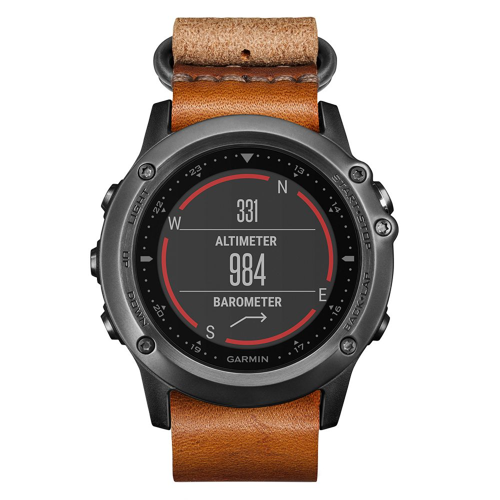 Garmin fenix 3 Sapphire Gray / Leather Band