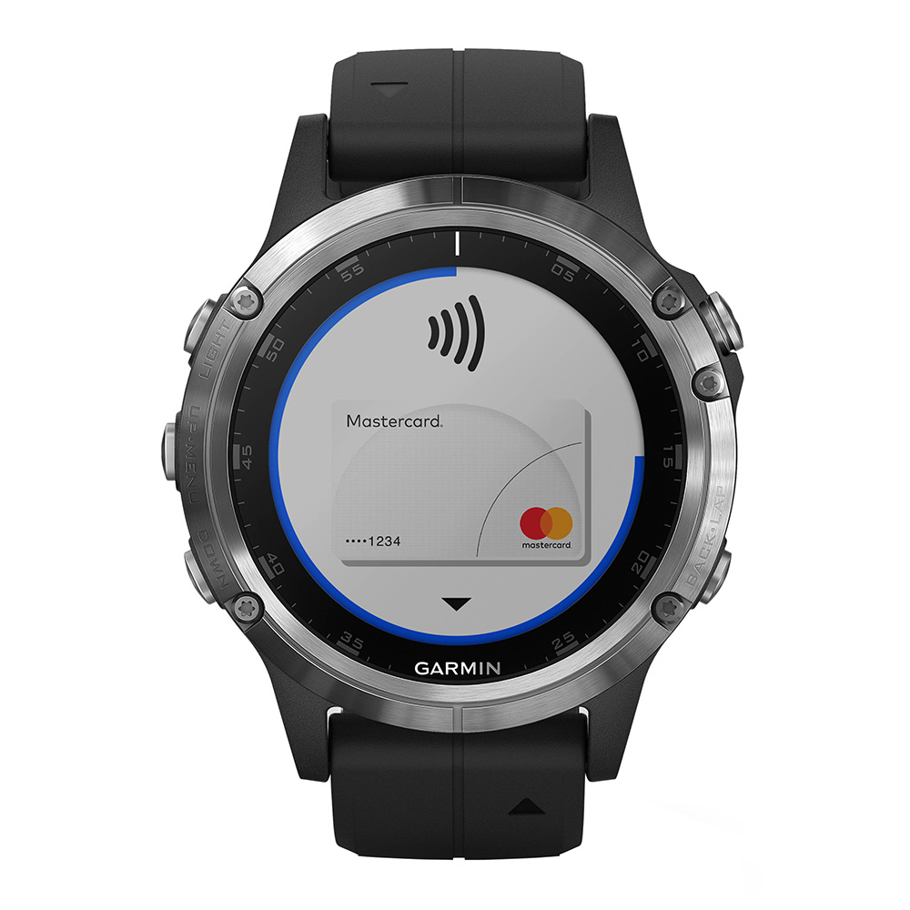 Garmin fenix 5 Plus Silver / Black Band