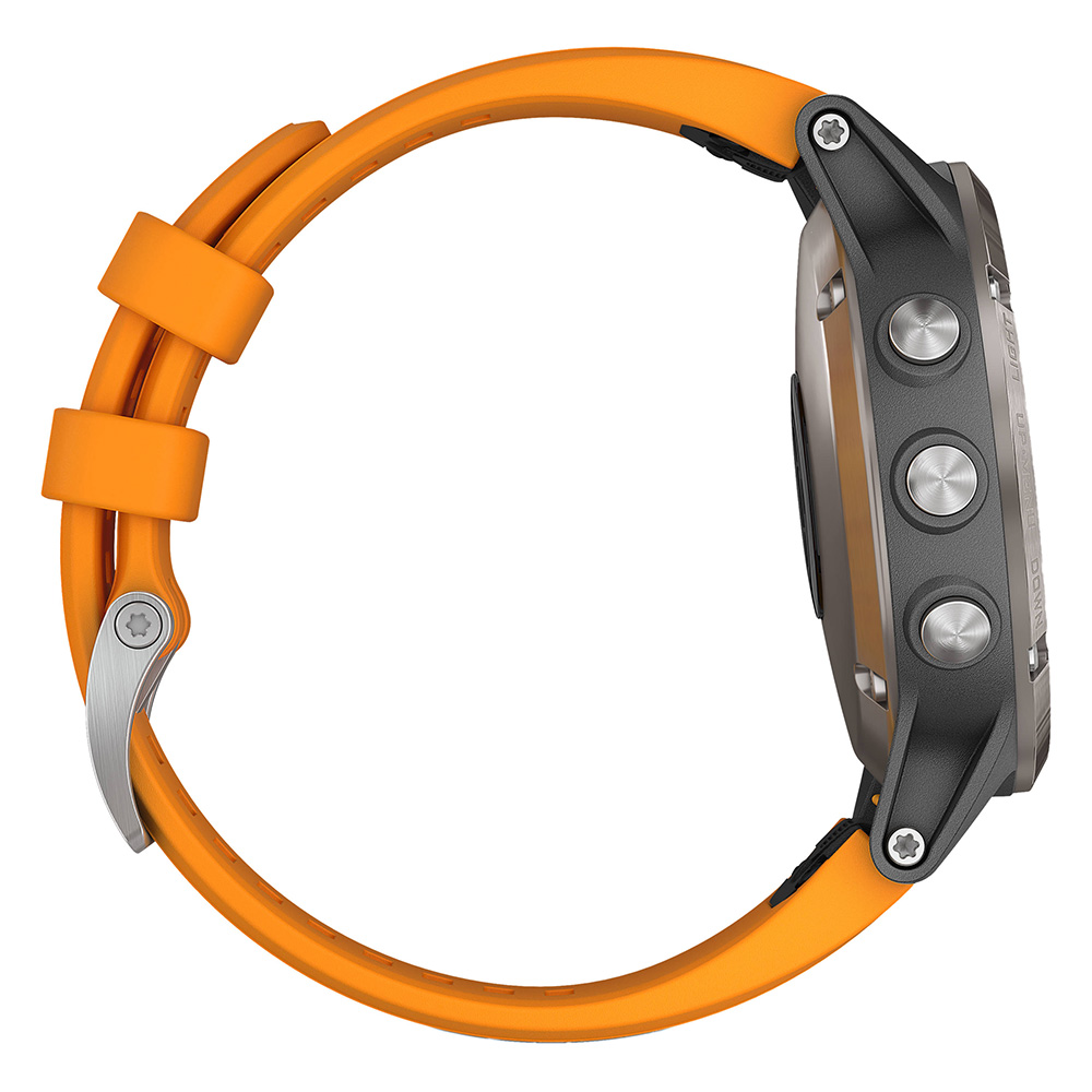 Garmin fenix 5 Plus Sapphire Titanium / Solar Flare Orange Band
