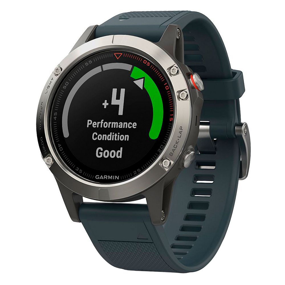 Garmin fenix 5 Silver / Granite Blue Band