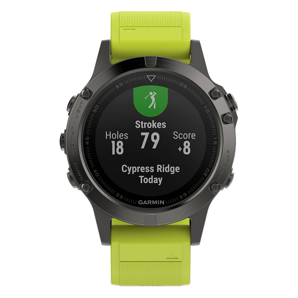 Garmin fenix 5 Slate Gray / Amp Yellow Band