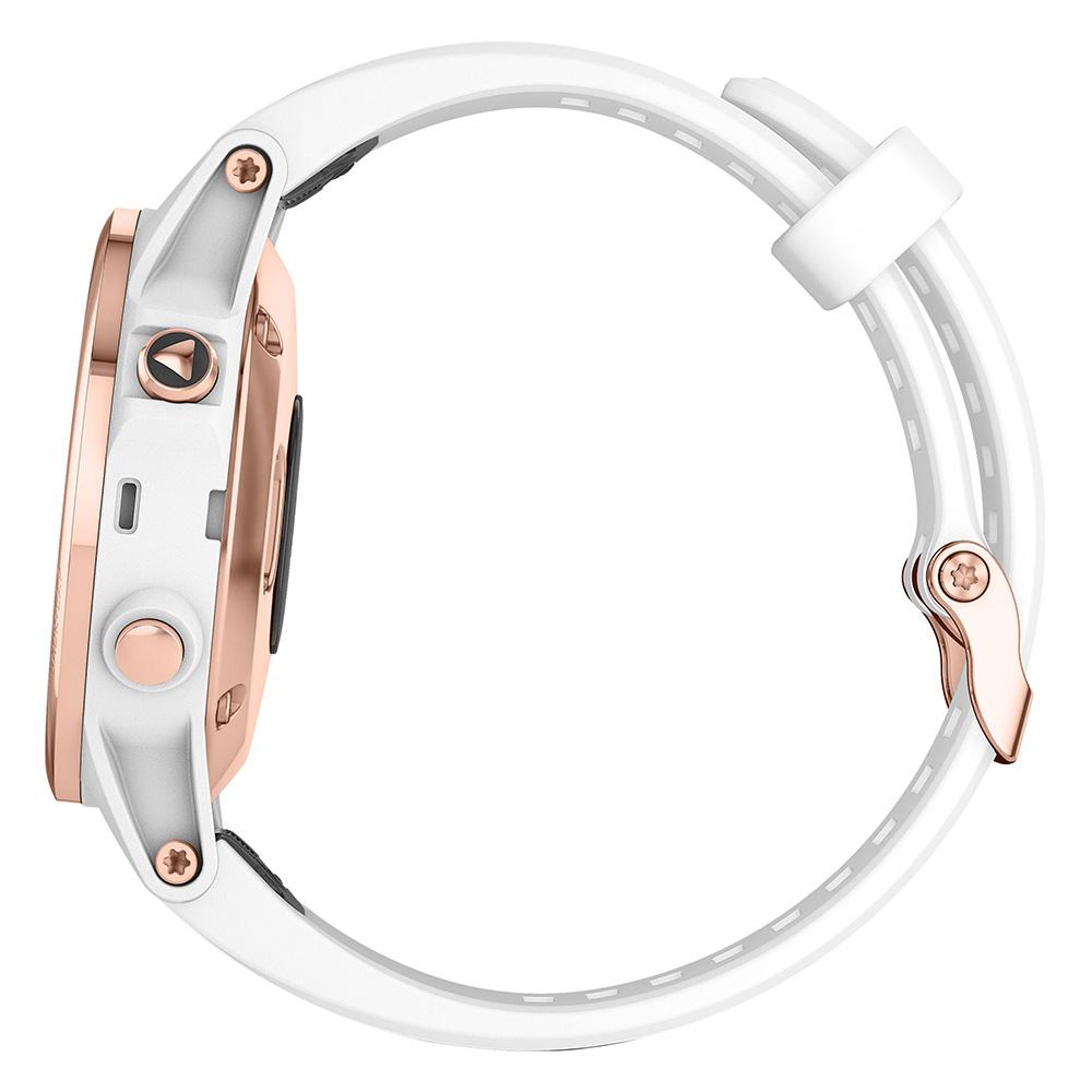 Garmin fenix 5S Plus Sapphire Rose Gold / Carrera White Band