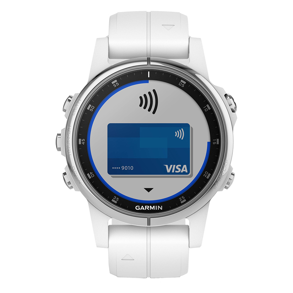 Garmin fenix 5S Plus Sapphire White / Carrera White Band