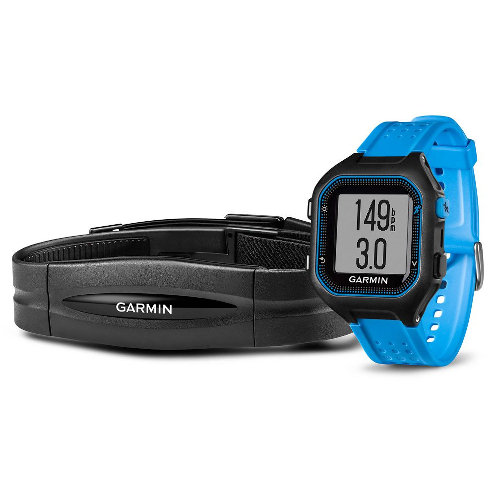 Garmin Forerunner 25 Black / Blue Bundle