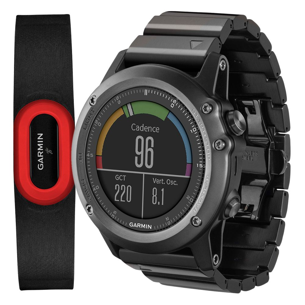 Garmin fenix 3 Sapphire Gray / Metal Band Performer Bundle
