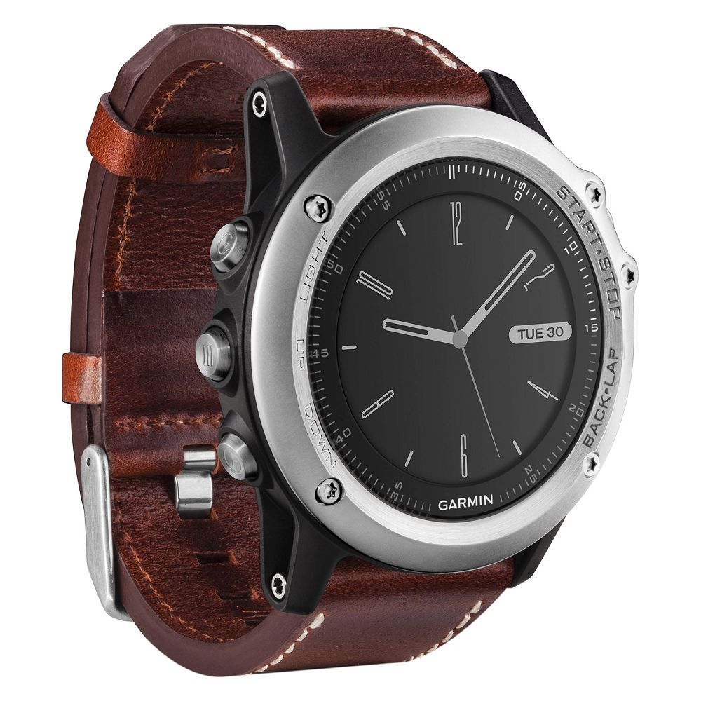 Garmin fenix 3 Sapphire Silver / Leather Band
