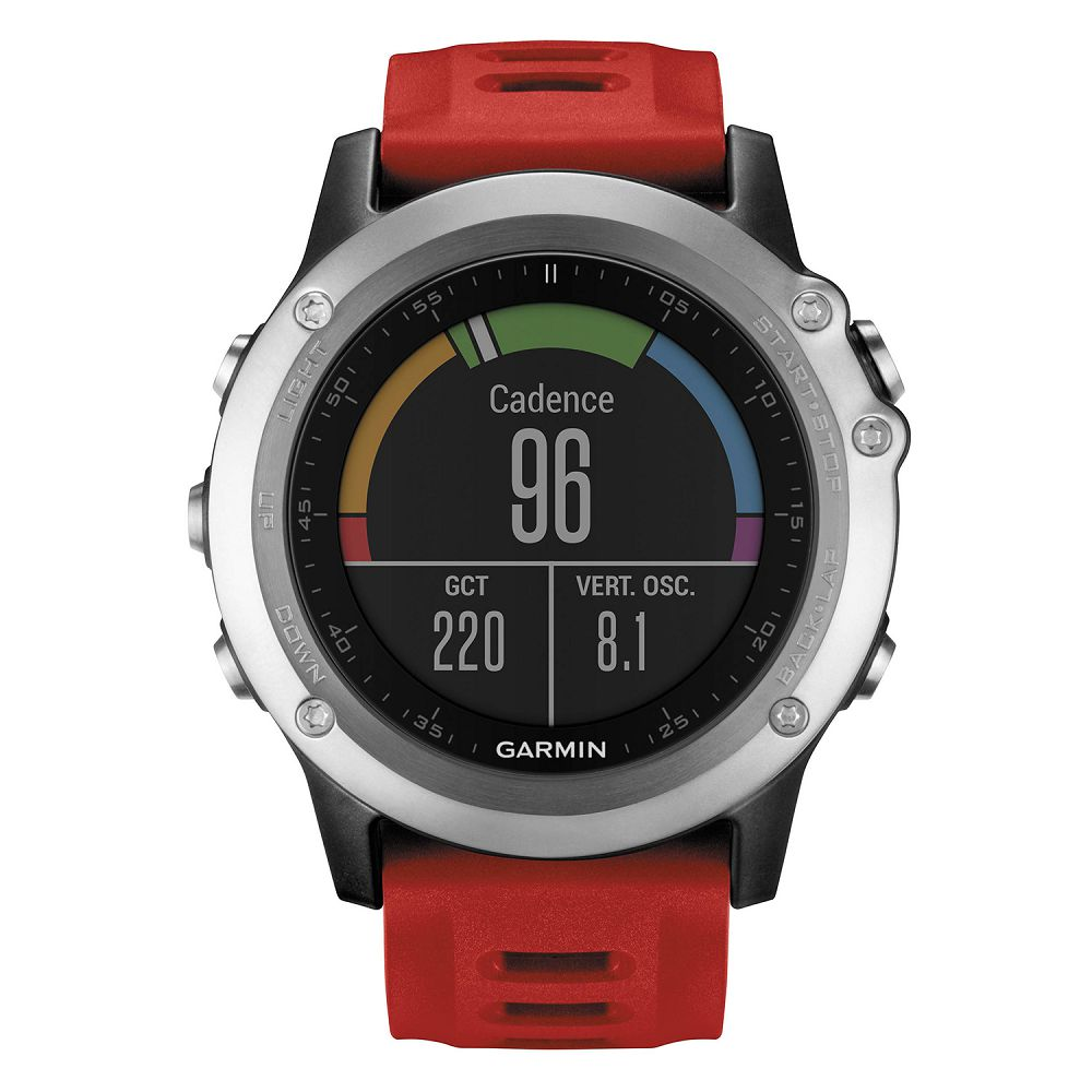 Garmin fenix 3 Silver / Red Band Performer Bundle