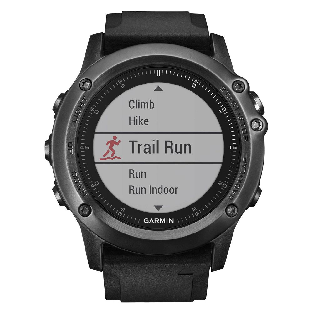 Garmin fenix 3 HR Sapphire Gray / Black Band Performer Bundle