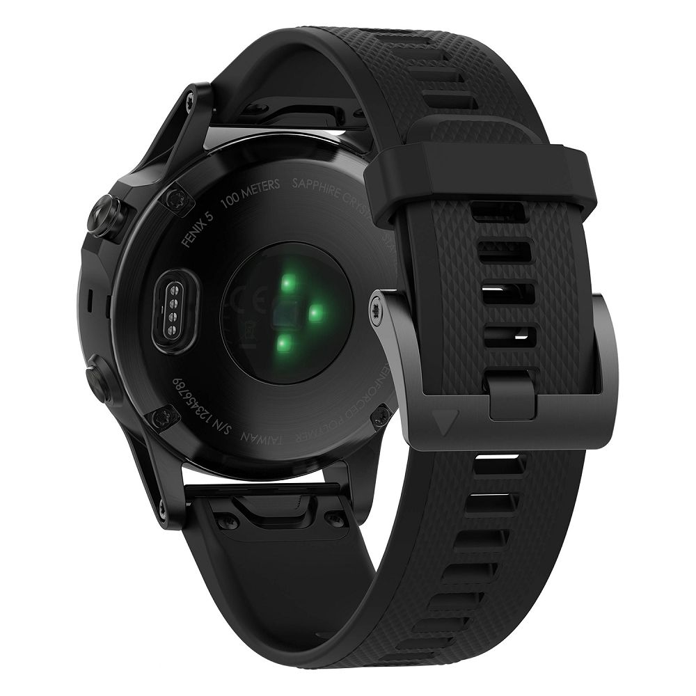 Garmin fenix 5 Black Sapphire / Black Band Performer Bundle