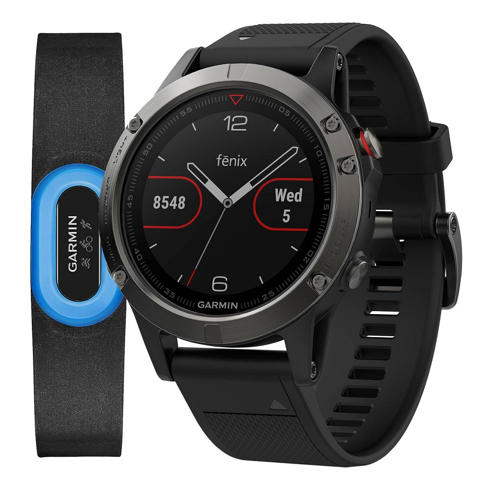 Garmin fenix 5 Slate Gray / Black Band Performer Bundle