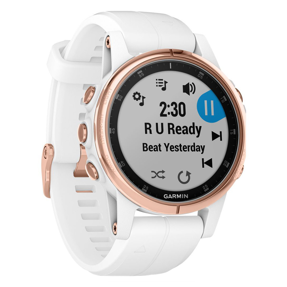 Garmin fenix 5S Plus Sapphire Rose Gold / Carrera White Band