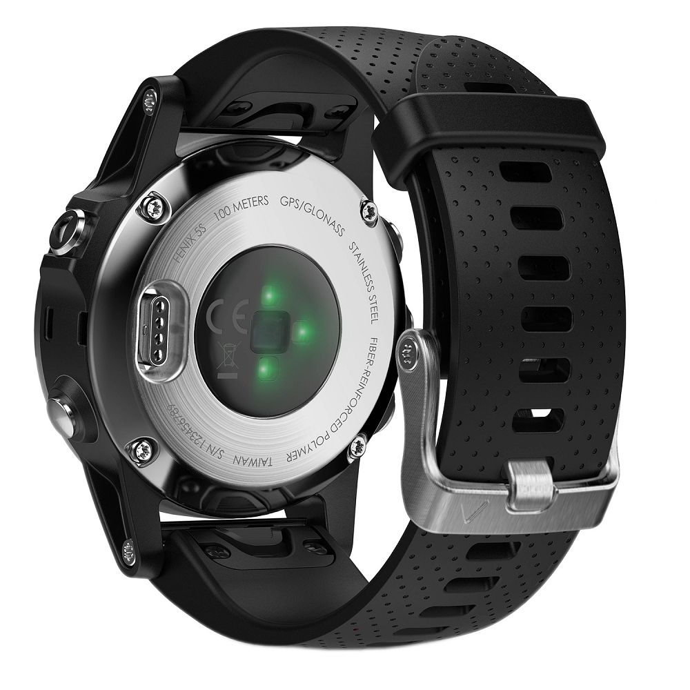 Garmin fenix 5S Silver / Black Band