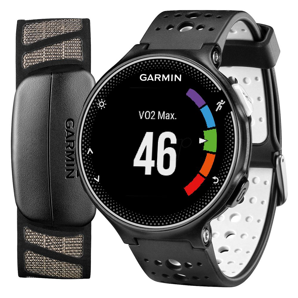 Garmin Forerunner 230 Black White Bundle