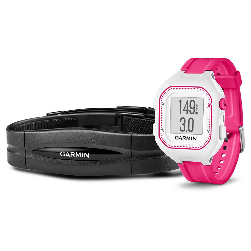 Garmin Forerunner 25 White / Pink Bundle