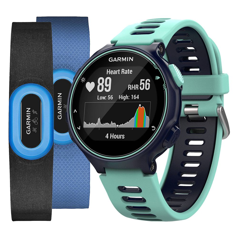 Garmin Forerunner 735XT Midnight Blue/Frost Blue Tri Bundle